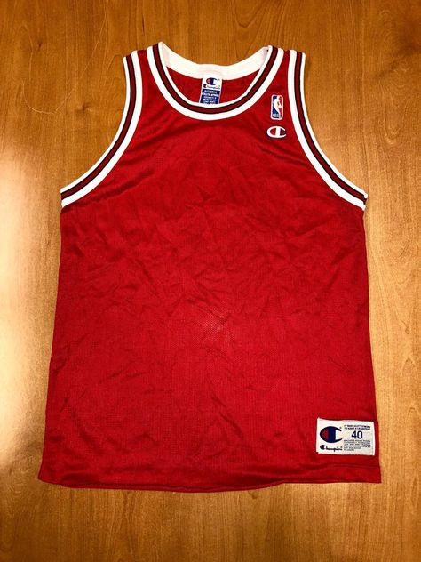 7a7f01334c40 Vintage 1995 - 1998 Chicago Bulls Blank Champion Jersey Size 40 nba finals  hat shirt scottie pippen authentic michael jordan elton brand by ...