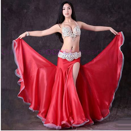 067d425b4 Online Shop 2018 Women Professional Belly Dance Costume Set Luxury  Bellydance Costumes Stage Performance Diamond Decoration Bras & Skirt Set |  Aliexpress ...
