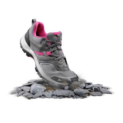 e43b1ba7657f0 QUECHUA MH100 Womens Walking Shoes - Grey/Pink in 2019 | What to ...