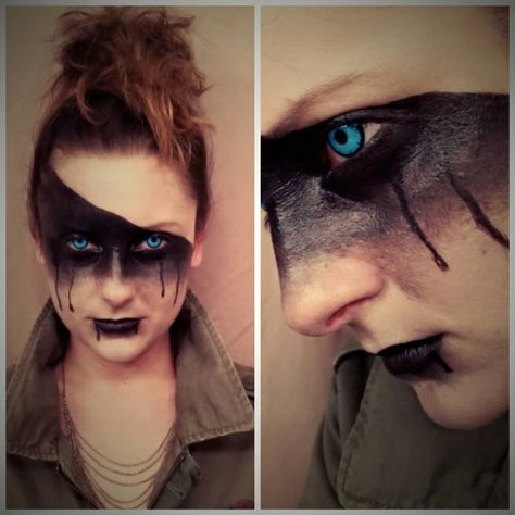 """Mad Max"" inspired avant-garde makeup by Amber Dawn of the Dead"
