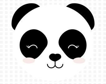 Clipart Oso Panda Cara De Panda Svg Eps Jpg Png Uso Etsy Clip Art Rainbow Svg Cute Clipart