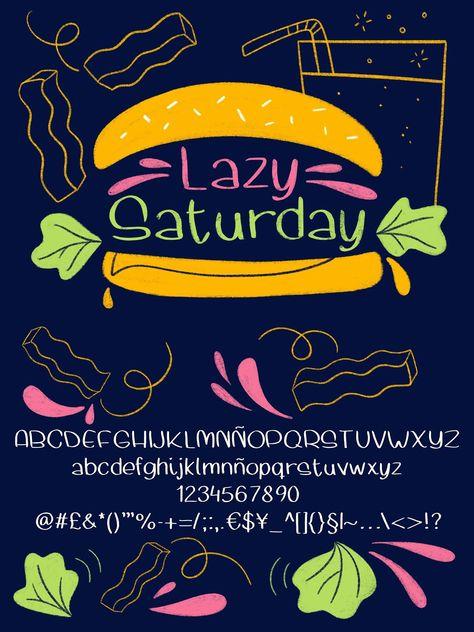 Lazy Saturday font