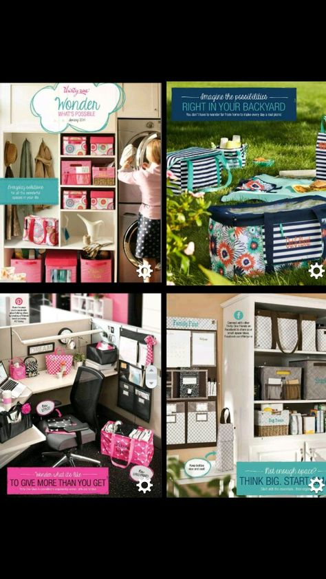 Everyday Solutions in the Spring 2014 Catalog from Thirty One Gifts - I am loving the new items and prints
