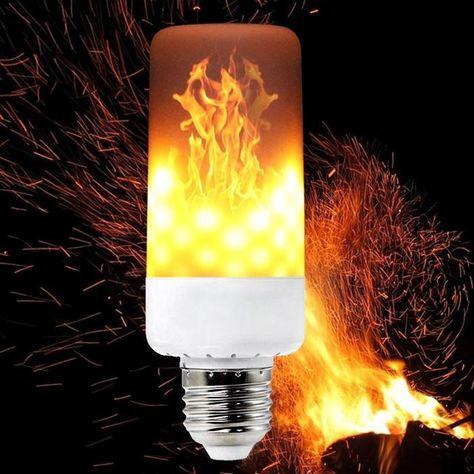 LED Light Flicker Flame Lightbulb Burning Fire Effect Party Lamp Gravity Sensor