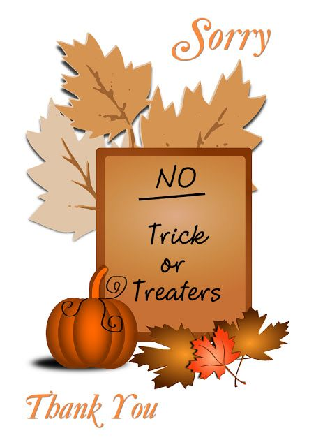 List of Pinterest trick or treat sign printable pictures  Pinterest