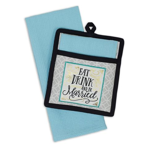 Be Married Potholder Gift Set With Images Pot Holders Gifts