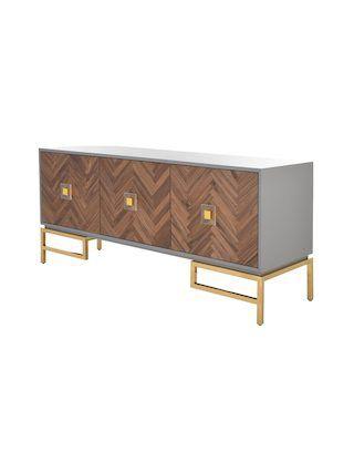Sanford 3 Door Sideboard By Safavieh Couture Grey Gilt Walnut Wood Sideboard Walnut Wood Sideboard