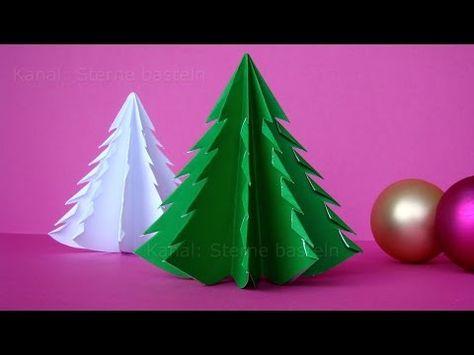 Weihnachten Basteln Tannenbaum Basteln Mit Papier