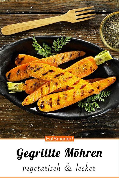Feine Gemüseküche: Gegrillte Möhren - kalorienarm - schnelles Rezept - einfaches Gericht - So gesund ist das Rezept: 7,9/10 | Eine Rezeptidee von EAT SMARTER | Low Carb-Vegetarisch, Vegetarisch, Vitaminreich, Gesunde Augen, Sommer, Vegetarische Sommergerichte, Grillen, Beilagen zum Grillen, Grillgemüse, Grillparty, Grillrezepte, Gemüse grillen, Vegetarisch Grillen, 20-Minuten-Rezepte, Einfach, Gartenparty, Schnelle Rezepte, Gemüse, Beilage #wurzelgemüse #gesunderezepte