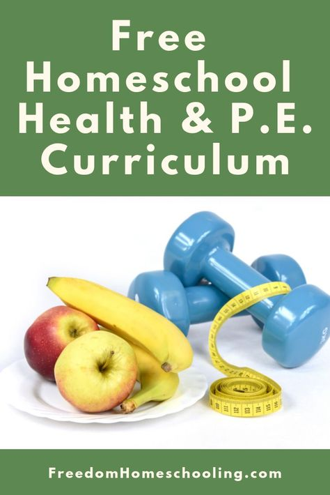 FREE homeschool health and P. curriculum for all grades. FREE homeschool health and P. curriculum for all grades. Physical Education Curriculum, Free Homeschool Curriculum, Homeschool High School, Health Education, Health Class, Homeschooling Resources, Elementary Schools, Home School Curriculum, High School Health Lessons