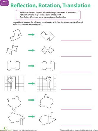 Reflection Rotation Translation Education Ideas Teaching Math