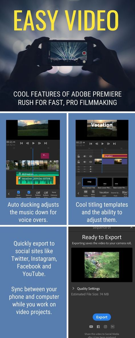 Easy Video Creation with Adobe Premiere Rush