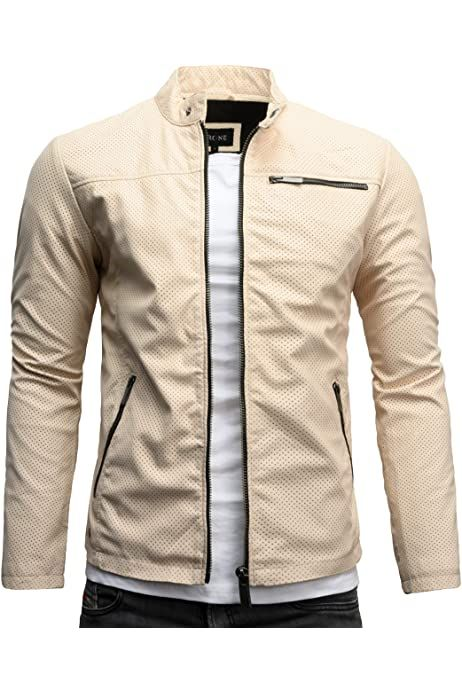 Crone Epic Herren Lederjacke Cleane Leichte Basic Jacke aus