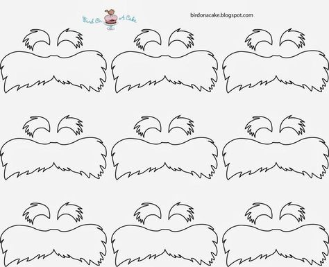 List Of Pinterest Mustache Template Lorax Pictures