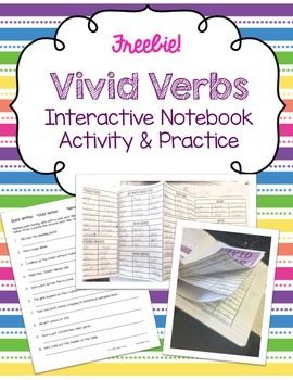 Vivid Verbs ~ FREE Interactive Notebook Activity & Practice