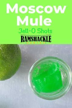 Make some fun and delicious Moscow Mule Jell-O shots for your next fun get together. Whether it is game day or just a fun party these cocktail shots are great! These are so tasty and you will surprise people with your flavorful shots. #mule #lime #shots