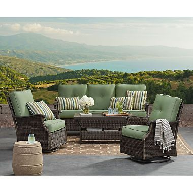 Member S Mark Agio Stockton 4 Piece Patio Deep Seating Set With