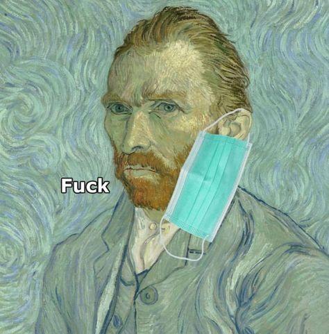 Van Gogh Mask T-Shirt