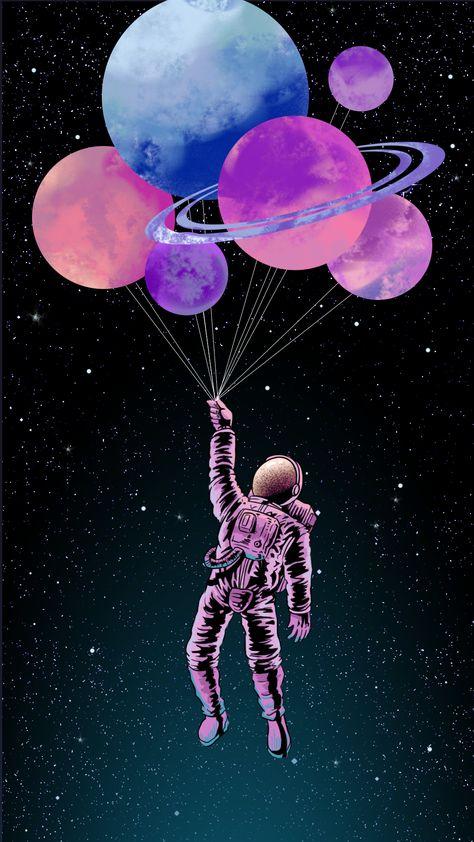 Balloon, Pink, Illustration, Graphic design, Sky, Organism
