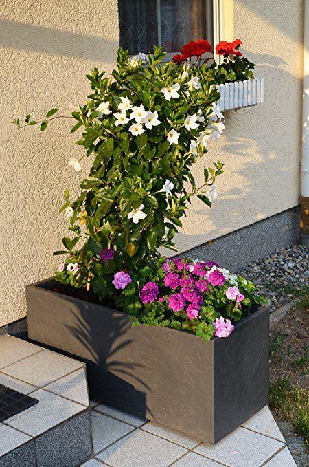 Ondis24 Pflanzkubel Blumenkubel Blumentopf Vulkan Pierre 100cm