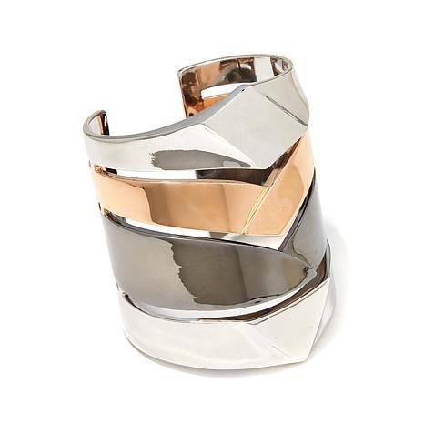 Diamonds Unleashed Geometric Multirow Bangle Bracelet