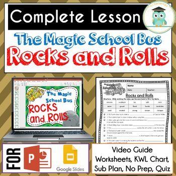 Magic School Bus Rocks And Rolls Video Guide Sub Plan Worksheets Erosion Magic School Bus Magic School Magic School Bus Videos