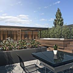 Espacio Solarium Balcones Y Terrazas Modernos Ideas Imagenes Y Decoracion De Tdc Oficina De Arquitectura Moderno Homify Oficina De Arquitectura Diseno De Terraza Decoracion De Exteriores