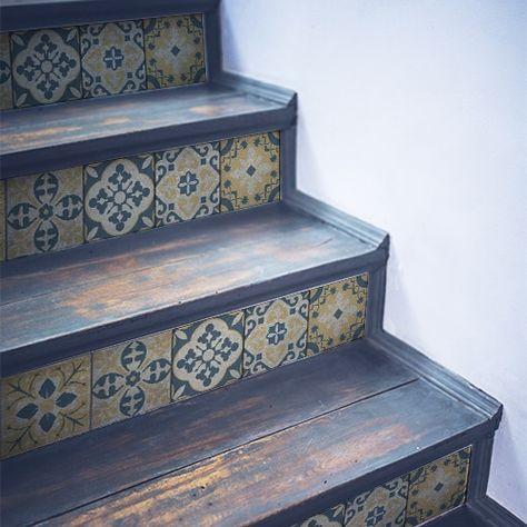 Deco Escaliers En Bois Contremarches Escalier Carreaux De Ciment