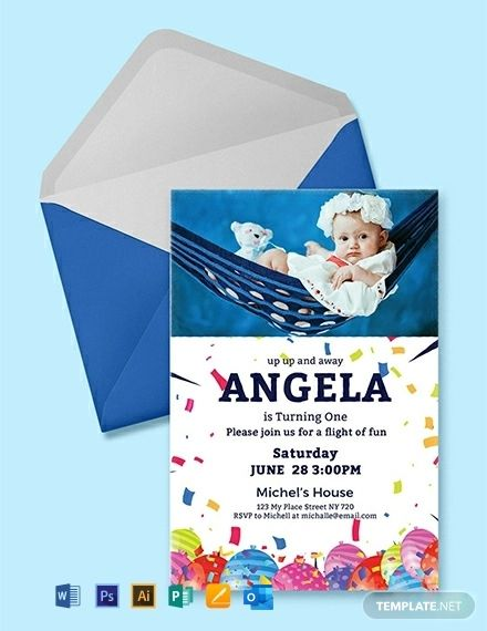 Free First Birthday Invitation Card Template Pdf Word Psd Apple Pages Illustrator Publisher Outlook First Birthday Invitation Cards Birthday Invitation Card Template Free Birthday Invitation Templates