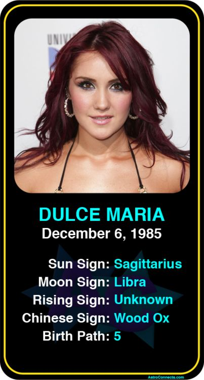 Celeb #Sagittarius birthdays Dulce Mariau0027s astrology info! Sign - desire wap info