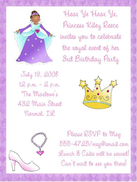 Princess birthday party invitation wording my birthday princess birthday party invitation wording my birthday pinterest birthday party invitation wording stopboris Image collections