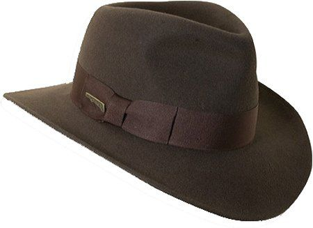 a6cea04e51d51 Amazon.com  Indiana Jones Crushable Wool Felt Fedora Hats IJ559  Clothing