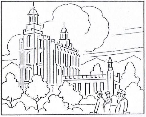 Temple Lds Lesson Ideas Logan Temple Lds Coloring Pages