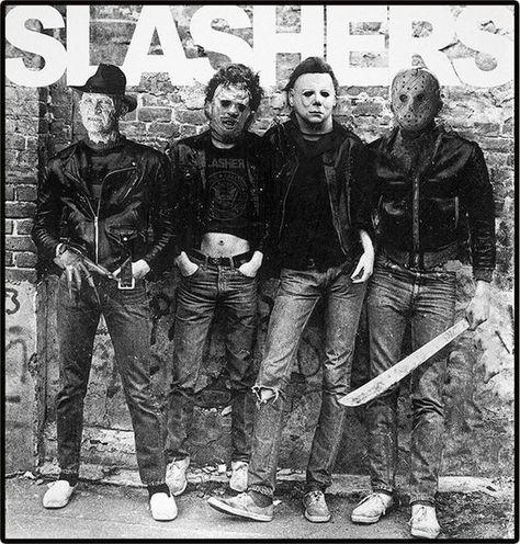 Slashers | Horror Villains | Halloween | Tee | 3/4 Sleeve Raglan | Long Sleeve | Tank | Youth