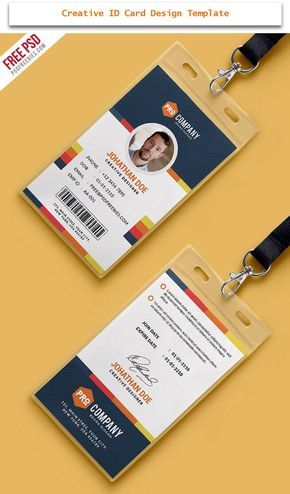 30 Creative Id Card Design Examples With Free Download Tech Trainee Card Design Identity Card Design Employee Id Card