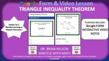 Triangle Inequality Theorem Google Form Video Lesson Triangle Inequality Theorems Video Lessons
