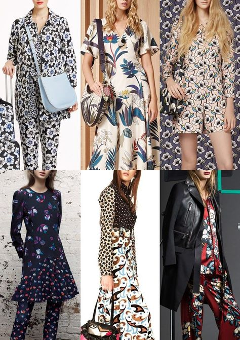Pre-AW1617-Print-Trends-Graphic-Simplicity - Kate Spade / Tory Burch / Orla Kiely / Rebecca Taylor / Etro / Dsquared2