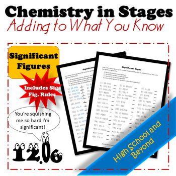 Learning And Explaining Significant Figures Chemistry Worksheets Chemistry Learning
