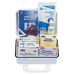 10 Person Ansi Plus First Aid Kits Weatherproof Plastic Wall Mount