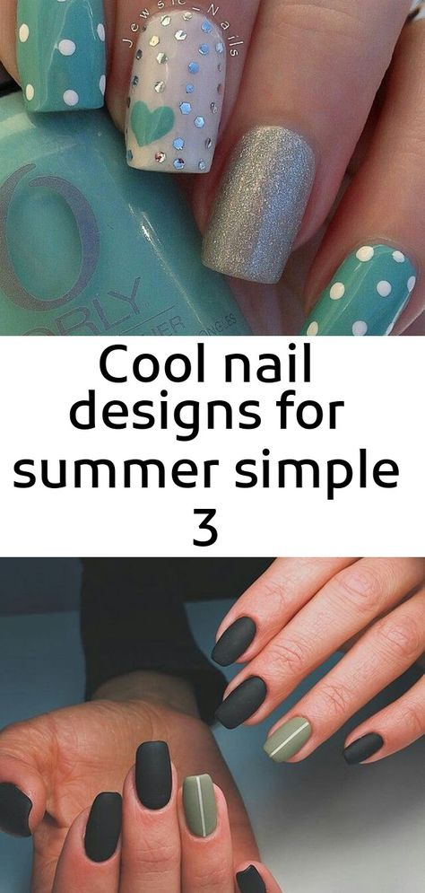 Cool nail designs for summer simple 3
