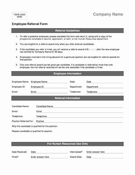 Physician Referral Form Template Luxury Employee Referral Program Form Template Templates How To Make Brochure Coupon Template Counseling Forms