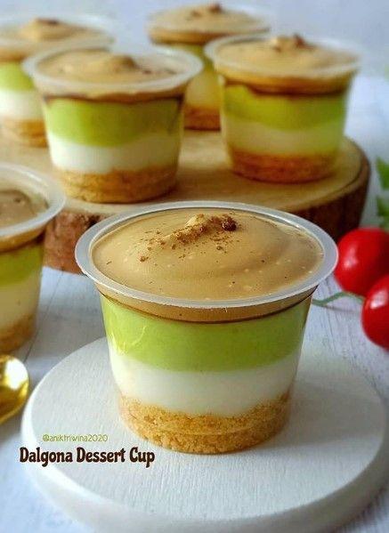 Dalgona Dessert Cup Hidangan Penutup Makanan Resep