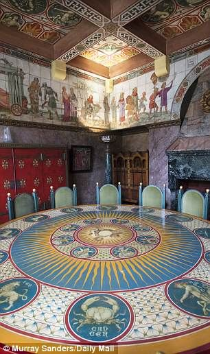 William Burges own house, now owned by Jimmy Page, (previously by Richard Harris who commissioned the table) It seems Robbie Williams is out to have his way, whatever damage it does to this irreplaceable work of art, for petty reasons and the council are obviously biased.