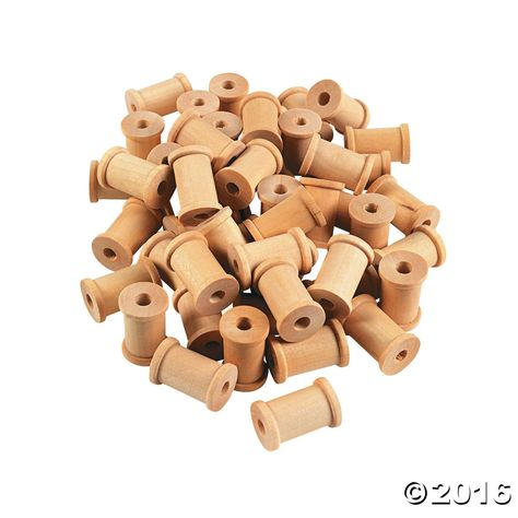 """1//2/"""" x 1//2/"""" Inch Wood Spools Thread Wire Sewing Bobbin 25 Pack Unfinished"""