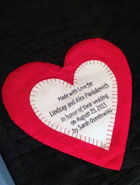 Heart Quilt Label Judy Owens Quilt Labels Quilts Quilt
