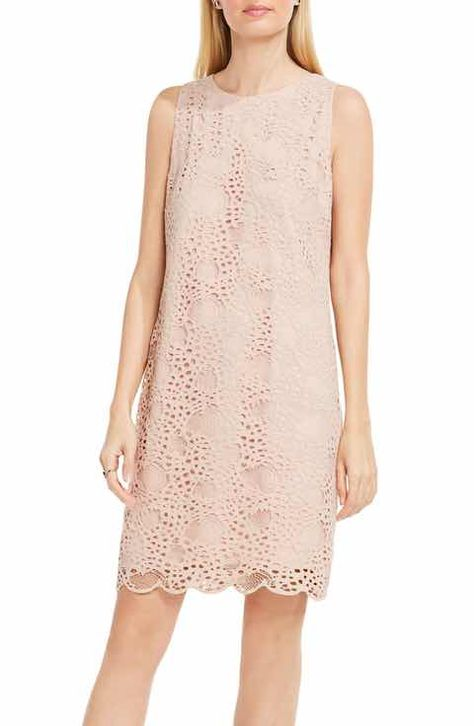 Vince Camuto Lace Shift Dress Clothes Dresses Blush