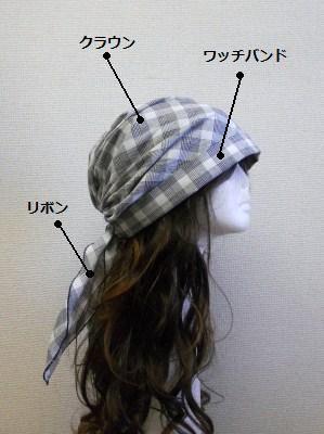 バンダナワッチ 作り方レシピ レディース服 帽子の型紙 ハンドメイド資材の販売 パターンのお店aviver 帽子 型紙 型紙 帽子 手作り