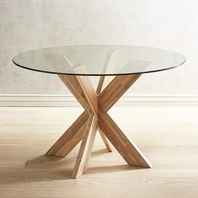 Simon Java X Dining Table Base In 2020 Glass Kitchen Tables