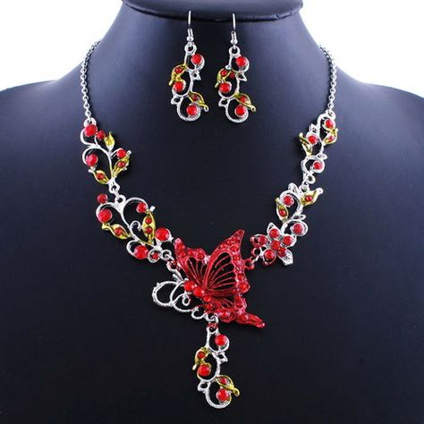 ED29-Ornate-Red-Delicate-Austrian-Crystal-Butterfly-Necklace-Boutique
