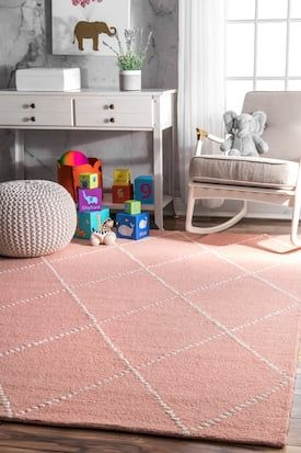 Rugs Usa Baby Pink Tuscan Dotted